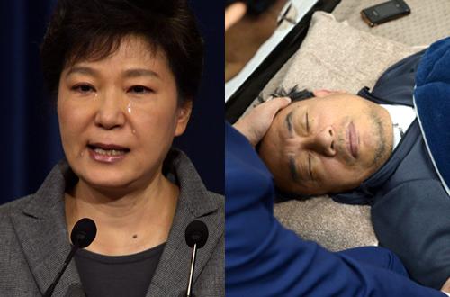 [이상호의 사진GO발] 박근혜 정권을 기억하는 두 장의 사진